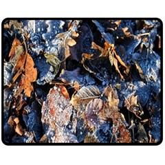Frost Leaves Winter Park Morning Fleece Blanket (Medium)