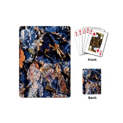 Frost Leaves Winter Park Morning Playing Cards (mini)
