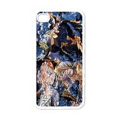 Frost Leaves Winter Park Morning Apple iPhone 4 Case (White)