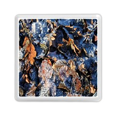 Frost Leaves Winter Park Morning Memory Card Reader (Square)