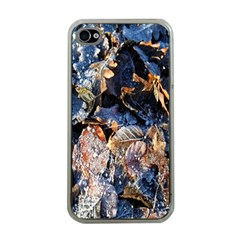 Frost Leaves Winter Park Morning Apple iPhone 4 Case (Clear)