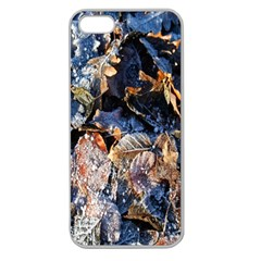 Frost Leaves Winter Park Morning Apple Seamless iPhone 5 Case (Clear)