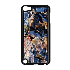 Frost Leaves Winter Park Morning Apple iPod Touch 5 Case (Black)