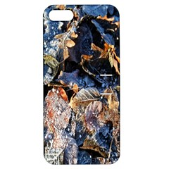 Frost Leaves Winter Park Morning Apple iPhone 5 Hardshell Case with Stand