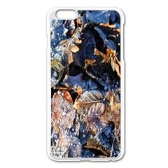 Frost Leaves Winter Park Morning Apple iPhone 6 Plus/6S Plus Enamel White Case