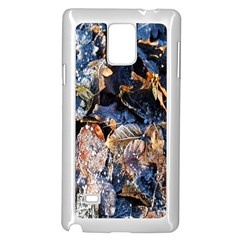 Frost Leaves Winter Park Morning Samsung Galaxy Note 4 Case (White)