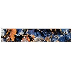 Frost Leaves Winter Park Morning Flano Scarf (Large)