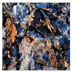 Frost Leaves Winter Park Morning Large Satin Scarf (square)