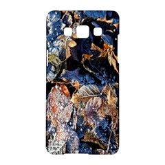 Frost Leaves Winter Park Morning Samsung Galaxy A5 Hardshell Case