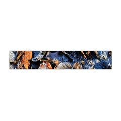 Frost Leaves Winter Park Morning Flano Scarf (Mini)
