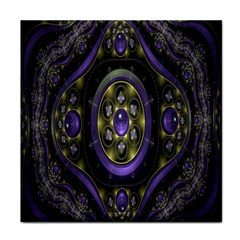 Fractal Sparkling Purple Abstract Tile Coasters