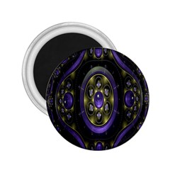 Fractal Sparkling Purple Abstract 2.25  Magnets
