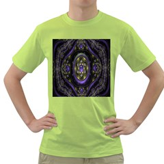 Fractal Sparkling Purple Abstract Green T-Shirt