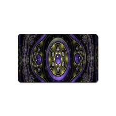 Fractal Sparkling Purple Abstract Magnet (Name Card)