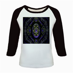 Fractal Sparkling Purple Abstract Kids Baseball Jerseys