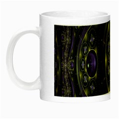 Fractal Sparkling Purple Abstract Night Luminous Mugs
