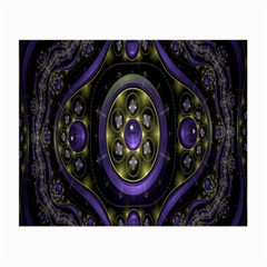 Fractal Sparkling Purple Abstract Small Glasses Cloth