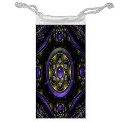Fractal Sparkling Purple Abstract Jewelry Bag