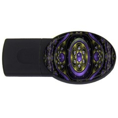 Fractal Sparkling Purple Abstract USB Flash Drive Oval (4 GB)