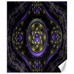 Fractal Sparkling Purple Abstract Canvas 8  x 10