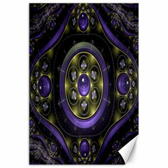 Fractal Sparkling Purple Abstract Canvas 20  x 30