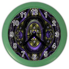 Fractal Sparkling Purple Abstract Color Wall Clocks