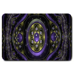 Fractal Sparkling Purple Abstract Large Doormat