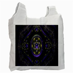 Fractal Sparkling Purple Abstract Recycle Bag (Two Side)