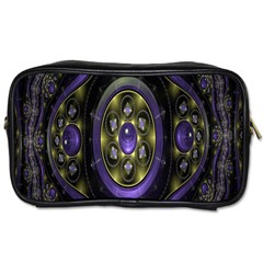 Fractal Sparkling Purple Abstract Toiletries Bags 2-Side