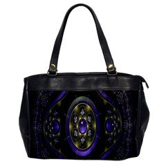 Fractal Sparkling Purple Abstract Office Handbags