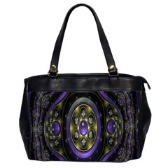 Fractal Sparkling Purple Abstract Office Handbags (2 Sides)