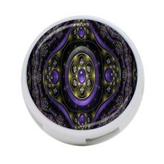 Fractal Sparkling Purple Abstract 4 Port Usb Hub (two Sides)