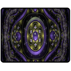 Fractal Sparkling Purple Abstract Fleece Blanket (Medium)