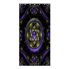 Fractal Sparkling Purple Abstract Shower Curtain 36  x 72  (Stall)