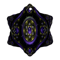 Fractal Sparkling Purple Abstract Ornament (snowflake)