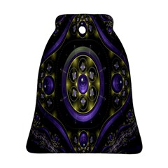 Fractal Sparkling Purple Abstract Bell Ornament (two Sides)