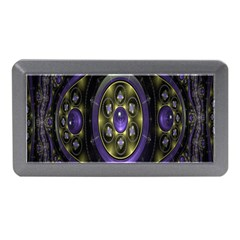 Fractal Sparkling Purple Abstract Memory Card Reader (mini)