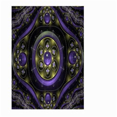 Fractal Sparkling Purple Abstract Large Garden Flag (Two Sides)