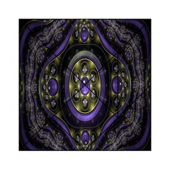 Fractal Sparkling Purple Abstract Acrylic Tangram Puzzle (6  X 6 )