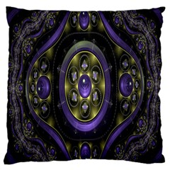 Fractal Sparkling Purple Abstract Large Cushion Case (two Sides)
