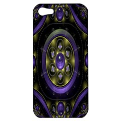 Fractal Sparkling Purple Abstract Apple Iphone 5 Hardshell Case