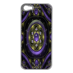 Fractal Sparkling Purple Abstract Apple Iphone 5 Case (silver)