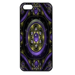 Fractal Sparkling Purple Abstract Apple Iphone 5 Seamless Case (black)