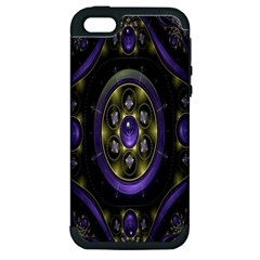 Fractal Sparkling Purple Abstract Apple iPhone 5 Hardshell Case (PC+Silicone)