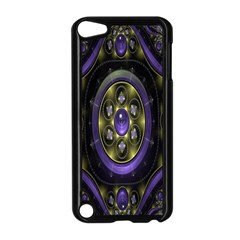 Fractal Sparkling Purple Abstract Apple iPod Touch 5 Case (Black)