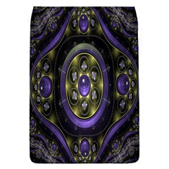 Fractal Sparkling Purple Abstract Flap Covers (L)