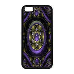 Fractal Sparkling Purple Abstract Apple Iphone 5c Seamless Case (black)