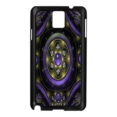 Fractal Sparkling Purple Abstract Samsung Galaxy Note 3 N9005 Case (black)