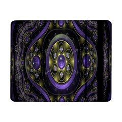 Fractal Sparkling Purple Abstract Samsung Galaxy Tab Pro 8 4  Flip Case
