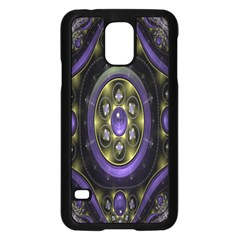 Fractal Sparkling Purple Abstract Samsung Galaxy S5 Case (black)